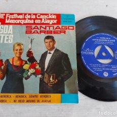 Discos de vinilo: 1º FESTIVAL CANCION MENORQUINA EN ALAYOR / M. SINTES - S. BARBER / EP-COLUMBIA-1964 / MBC. ***/***. Lote 274386223