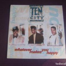 Discos de vinilo: TEN CITY – WHATEVER MAKES YOU HAPPY - SG ATLANTIC 1991 - GARAGE HOUSE DISCO ELECTRONICA TECHNO. Lote 274391493