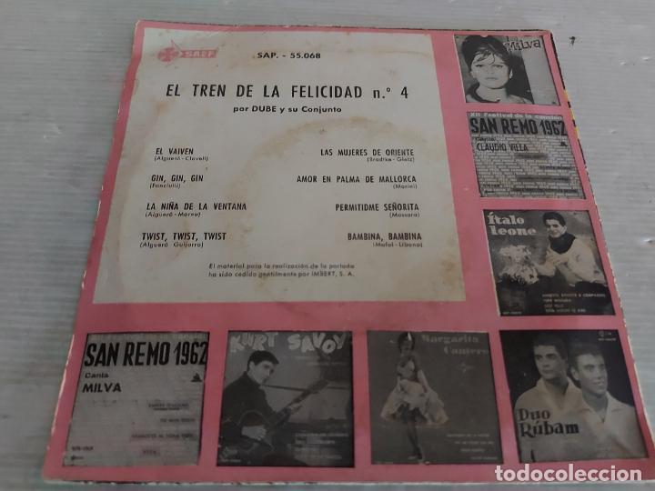Discos de vinilo: DUBÉ Y SU CONJUNTO / EL TREN DE LA FELICIDAD Nº 4 / EP - SAEF-1962 / MBC. ***/*** - Foto 2 - 274409823