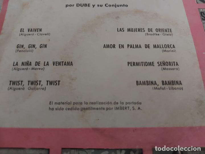 Discos de vinilo: DUBÉ Y SU CONJUNTO / EL TREN DE LA FELICIDAD Nº 4 / EP - SAEF-1962 / MBC. ***/*** - Foto 3 - 274409823