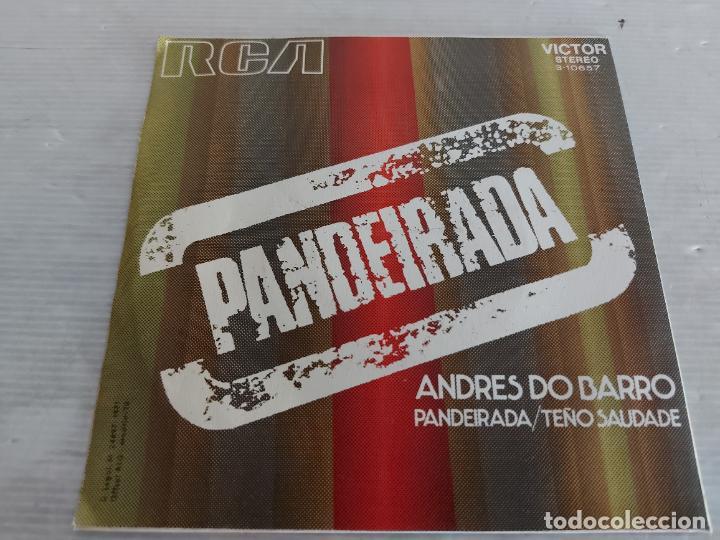 Discos de vinilo: ANDRÉS DO BARRO / PANDEIRADA / SINGLE - RCA-VICTOR-1971 / MBC. ***/*** - Foto 2 - 274410378