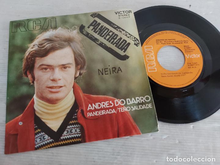 ANDRÉS DO BARRO / PANDEIRADA / SINGLE - RCA-VICTOR-1971 / MBC. ***/*** (Música - Discos - Singles Vinilo - Solistas Españoles de los 70 a la actualidad)