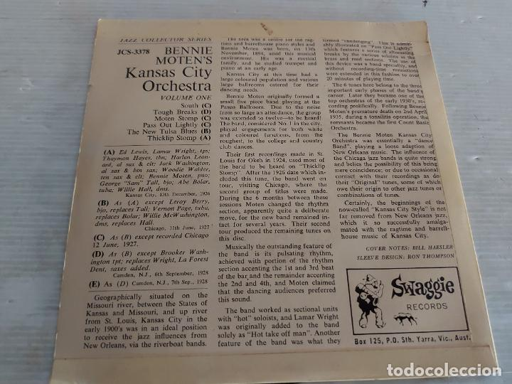 Discos de vinilo: BENNIE MOTEN AND HIS KANSAS CITY ORCHESTRA / VOLUME ONE / EP-SWAGGIE-33 R.P.M. / MBC. ***/***RARO - Foto 2 - 274411193