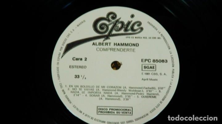Discos de vinilo: Albert Hammond * LP * Comprenderte * 1981 Promocional * Rare White label - Foto 9 - 274412328