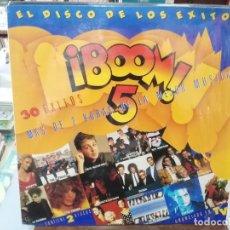 Disques de vinyle: BOOM 5 - EL DISCO DE LOS ÉXITOS - DOBLE LP. SELLO EMI 1989. Lote 274413218