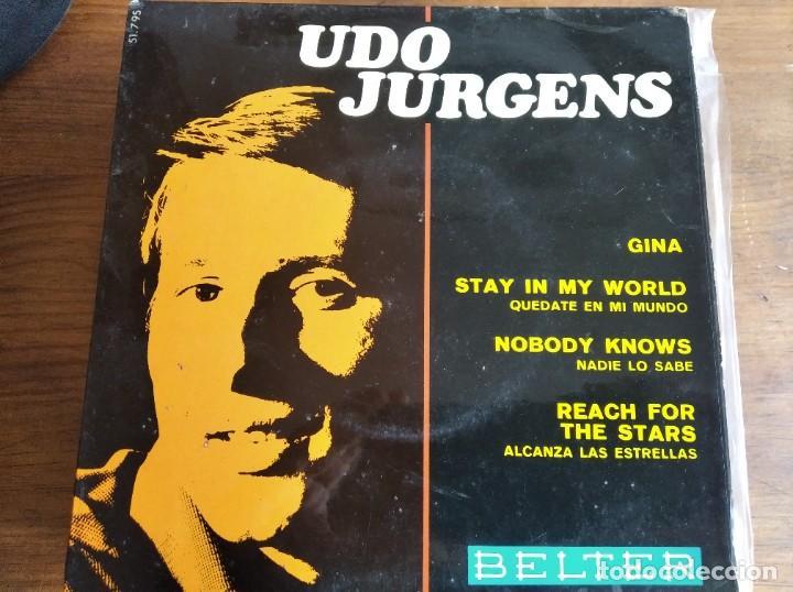 UDO JURGENS - GINA + 3 **** RARO EP ESPAÑOL 1967 BUEN ESTADO (Música - Discos de Vinilo - EPs - Festival de Eurovisión)
