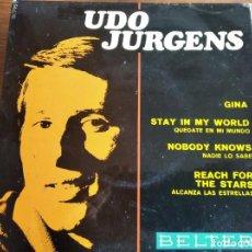 Discos de vinilo: UDO JURGENS - GINA + 3 **** RARO EP ESPAÑOL 1967 BUEN ESTADO. Lote 274416388