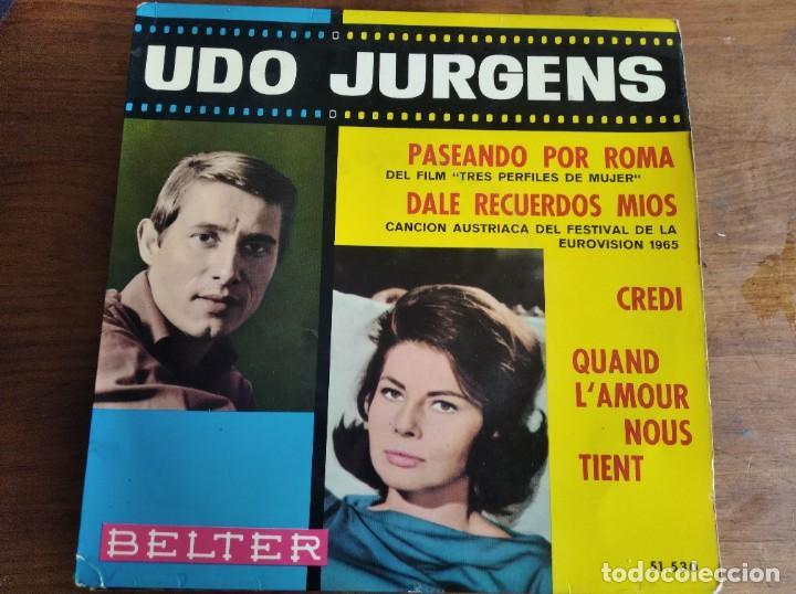 UDO JURGENS - DALE RECUERDOS MÍOS + 3 **** RARO EP ESPAÑOL 1965 BUEN ESTADO (Música - Discos de Vinilo - EPs - Festival de Eurovisión)