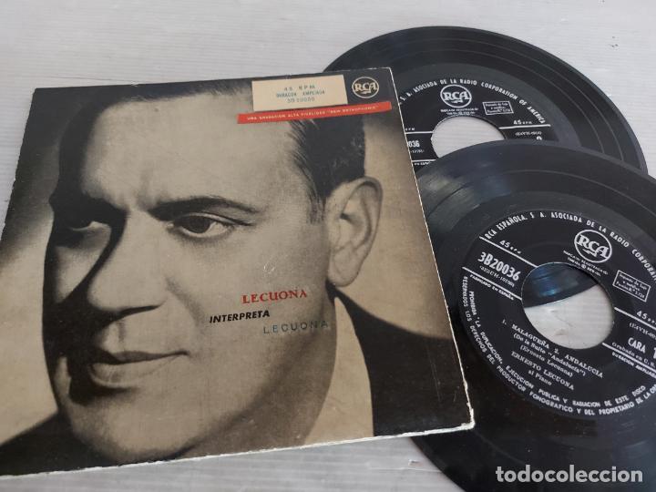 LECUONA INTERPRETA LECUONA / DOBLE EP-GATEFOLD - RCA USA-1958 / MBC. ***/*** (Música - Discos de Vinilo - EPs - Orquestas)
