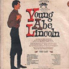 Discos de vinilo: YOUNG ABE LINCOLN - ORIGINAL CAST ALBUM - JAY HARNICK / LP GOLDEN (U.S.A) 1961 / MUY RARO RF-9827. Lote 274427988