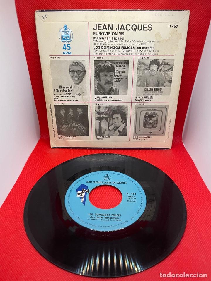 Discos de vinilo: JEAN JACQUES CANTA EN ESPAÑOL - MAMA Y LOS DOMINGOS FELICES - EUROVISIÓN 1969 - Foto 2 - 274433768
