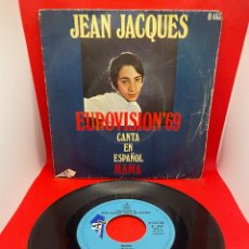 Discos de vinilo: JEAN JACQUES CANTA EN ESPAÑOL - MAMA Y LOS DOMINGOS FELICES - EUROVISIÓN 1969. Lote 274433768