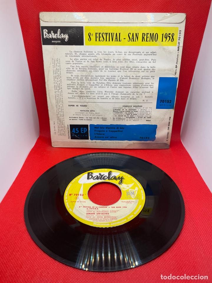 Discos de vinilo: SINGLE 8 FESTIVAL DE SAN REMO 1958 - Foto 2 - 274434183