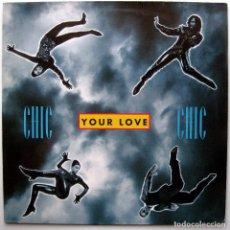 Discos de vinilo: CHIC - YOUR LOVE - MAXI WARNER BROS. RECORDS 1992 GERMANY BPY. Lote 274534568