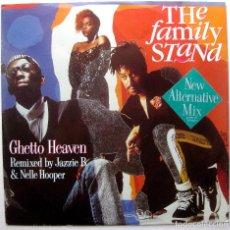 Discos de vinilo: THE FAMILY STAND - GHETTO HEAVEN - MAXI ATLANTIC 1990 UK BPY. Lote 274543348