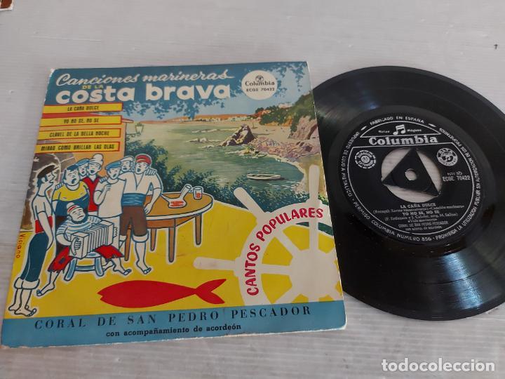 CORAL DE SAN PEDRO PESCADOR / CANCIONES MARINERAS / EP - COLUMBIA-1965 / MBC. ***/*** (Música - Discos de Vinilo - EPs - Country y Folk)