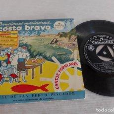 Discos de vinilo: CORAL DE SAN PEDRO PESCADOR / CANCIONES MARINERAS / EP - COLUMBIA-1965 / MBC. ***/***. Lote 274545918