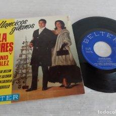 Discos de vinilo: LOLA FLORES Y ANTONIO GONZALEZ / VILLANCICOS GITANOS / EP-BELTER-1964 / MBC. ***/***. Lote 274546813
