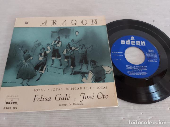 FELISA GALÉ Y JOSÉ OTO / ARAGÓN / EP - ODEON-1963 / MBC. ***/*** (Música - Discos de Vinilo - EPs - Country y Folk)