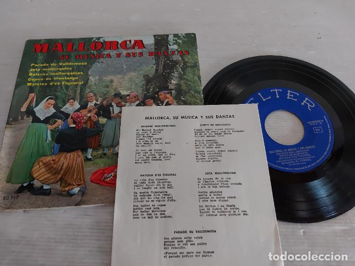 MALLORCA / SU MÚSICA Y SUS DANZAS / EP-GATEFOLD - BELTER-1960 / MBC. ***/*** LETRAS (Música - Discos de Vinilo - EPs - Country y Folk)