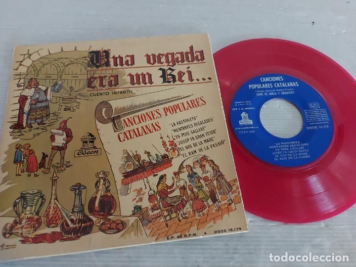 UNA VEGADA ERA UN REI / CANCIONES POPULARES CATALANAS / EP-ODEON-1958 / MBC. ***/*** (Música - Discos de Vinilo - EPs - Otros estilos)