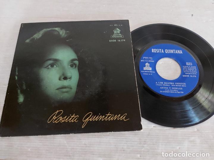 ROSITA QUINTANA CON EL MARIACHI MÉXICO DE PEPE VILLA / EP - ODEON-1958 / MBC. ***/*** (Música - Discos de Vinilo - EPs - Grupos y Solistas de latinoamérica)