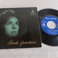 Discos de vinilo: ROSITA QUINTANA CON EL MARIACHI MÉXICO DE PEPE VILLA / EP - ODEON-1958 / MBC. ***/***. Lote 274567833