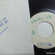 Disques de vinyle: SINGLE/LEVEL 42/RUNNING IN THE FAMILY/PROMOCIONAL-LABEL SIN TITULOS.. Lote 274595018