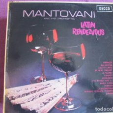 Discos de vinil: LP - MANTOVANI - LATIN RENDEZVOUS (ENGLAND, DECCA RECORDS 1963). Lote 274601468