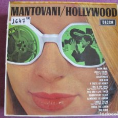Discos de vinil: LP - MANTOVANI - HOLLYWOOD (SPAIN, DECCA RECORDS 1967). Lote 274602933