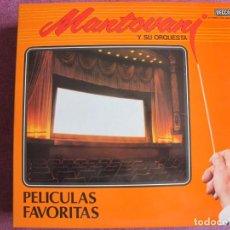 Discos de vinil: LP - MANTOVANI - PELICULAS FAVORITAS (DOBLE DISCO, SPAIN, DECCA RECORDS 1980). Lote 274603903