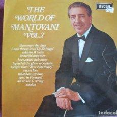 Disques de vinyle: LP - MANTOVANI - THE WORLD OF MANTOVANI VOL. 2 (ENGLAND, DECCA RECORDS 1969). Lote 274604618