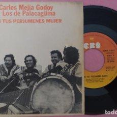 "Discos de vinilo: 7"" CARLOS MEJIA GODOY - SON TUS PERJUMENES MUJER - CBS 5310 - SPAIN PRESS (VG++/VG+). Lote 274605893"