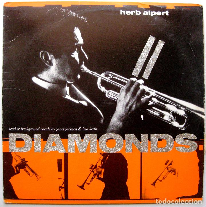 HERB ALPERT - DIAMONDS - MAXI A&M RECORDS 1987 USA BPY (Música - Discos de Vinilo - Maxi Singles - Jazz, Jazz-Rock, Blues y R&B)