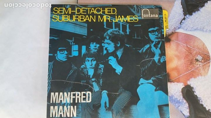 DISCO EP DE VINILO MANFRED MANN / SEMI-DETACHED SUBURBAN FONTANA AÑO 1966 (Música - Discos de Vinilo - EPs - Pop - Rock Internacional de los 50 y 60)