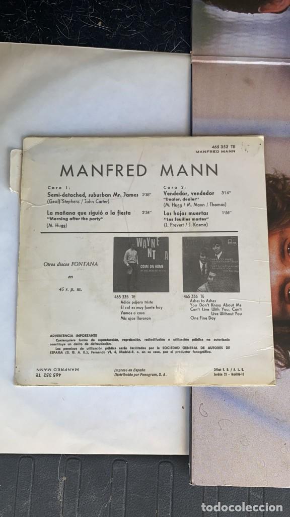 Discos de vinilo: DISCO EP DE VINILO MANFRED MANN / SEMI-DETACHED SUBURBAN FONTANA AÑO 1966 - Foto 4 - 274615438