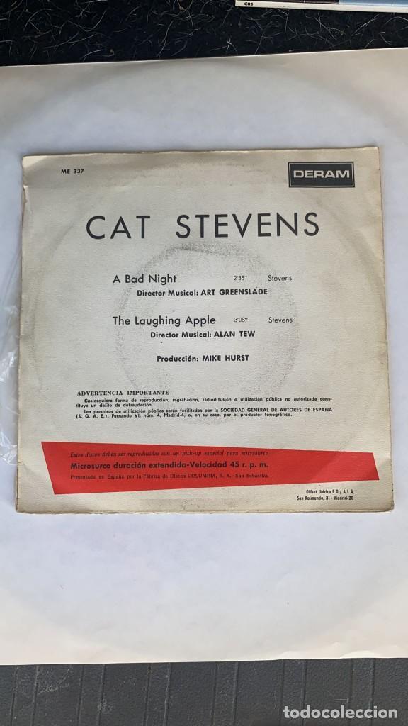 Discos de vinilo: DISCO EP CAT STEVENS A BAD NIGHT RARISIMO EP PORTUGUES - Foto 5 - 274616863