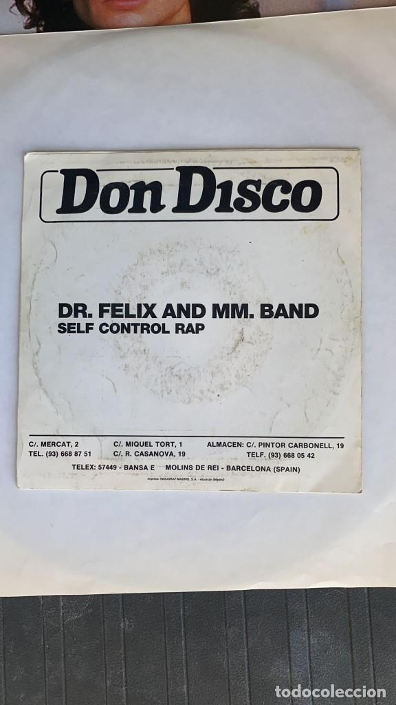 Discos de vinilo: DISCO EP DR FELIX & MM BAND SELF CONTROL RAP 1987 - Foto 4 - 274618268