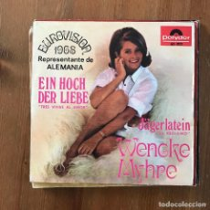"Disques de vinyle: WENCKE MYHRE - EIN HOCH DER LIEBE - 7"" SINGLE POLYDOR 1968 - EUROVISION. Lote 274619018"