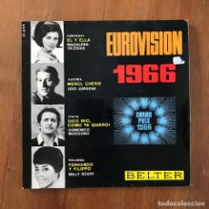 "Discos de vinilo: MADALENA IGLESIAS, UDO JURGENS, DOMENICO MODUGNO, MILLY SCOTT - EUROVISION 1966 - 7"" EP BELTER. Lote 274619718"