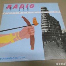 Discos de vinilo: RADIO FUTURA (MAXI) ESCUELA DE CALOR (4 TRACKS) AÑO 1984. Lote 274647748