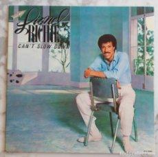 Discos de vinilo: LIONEL RICHIE. CAN'T SLOW DOWN. LP ORIGINAL ESPAÑA PORTADA DOBLE + ENCARTE LETRAS. Lote 274660443