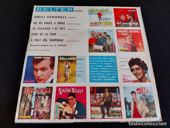 Discos de vinilo: EMILI VENDRELL / CAMI DE LA FONT + 3 / EP - BELTER-1961 / MBC. ***/*** - Foto 2 - 274683013
