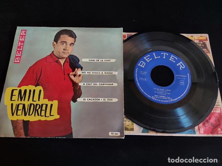 EMILI VENDRELL / CAMI DE LA FONT + 3 / EP - BELTER-1961 / MBC. ***/*** (Música - Discos de Vinilo - EPs - Solistas Españoles de los 50 y 60)