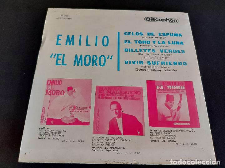 Discos de vinilo: EMILIO EL MORO / CELOS DE ESPUMA + 3 / EP-DISCOPHON-1964 / MBC. ***/*** - Foto 2 - 274684408