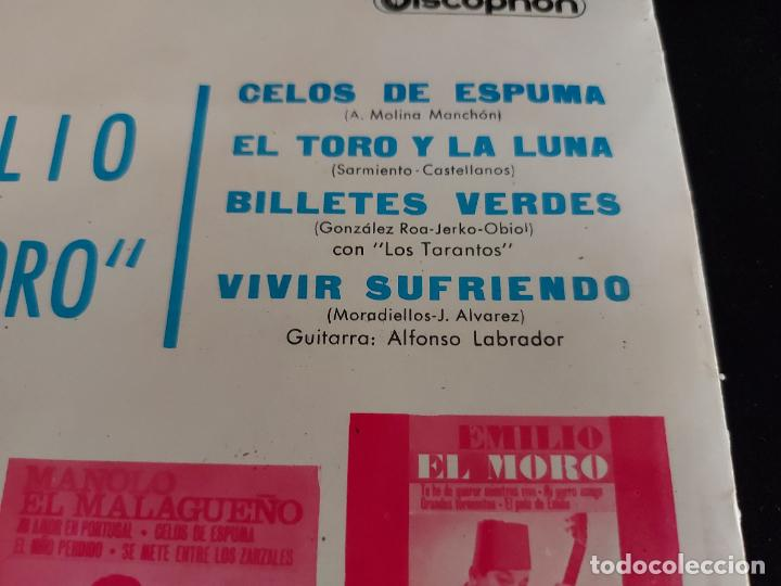 Discos de vinilo: EMILIO EL MORO / CELOS DE ESPUMA + 3 / EP-DISCOPHON-1964 / MBC. ***/*** - Foto 3 - 274684408