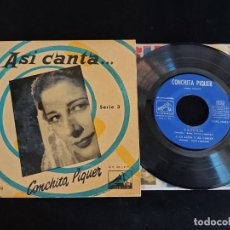 Discos de vinilo: ASÍ CANTA CONCHITA PIQUER / SERIE 3 / EP-LA VOZ DE SU AMO / SIN FECHA / MBC. ***/***. Lote 274684983