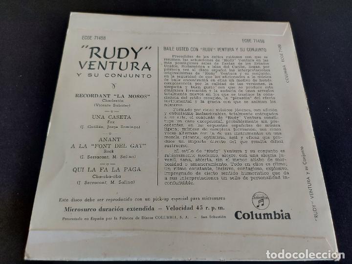 Discos de vinilo: RUDY VENTURA Y SU CONJUNTO / RECORDANT LA MOÑOS / EP - COLUMBIA-1960 / MBC. ***/*** - Foto 2 - 274685408