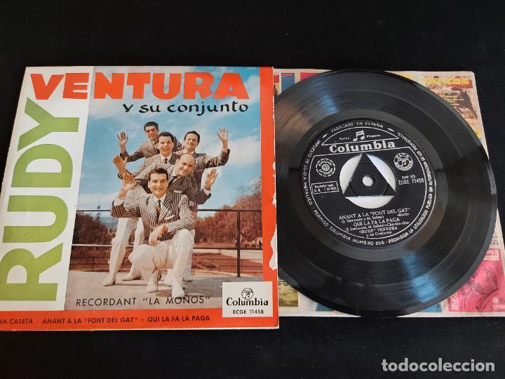 RUDY VENTURA Y SU CONJUNTO / RECORDANT LA MOÑOS / EP - COLUMBIA-1960 / MBC. ***/*** (Música - Discos de Vinilo - EPs - Grupos Españoles 50 y 60)