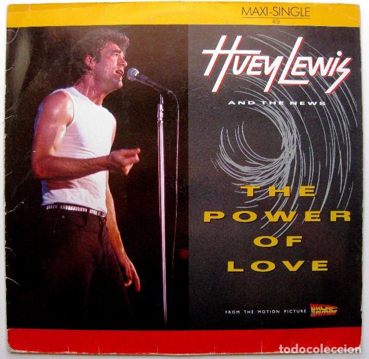 HUEY LEWIS AND THE NEWS - THE POWER OF LOVE - MAXI CHRYSALIS 1985 GERMANY BPY (Música - Discos de Vinilo - Maxi Singles - Pop - Rock - New Wave Internacional de los 80)